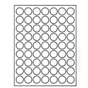 "1"" Diameter, White, Paper Laser Labels"