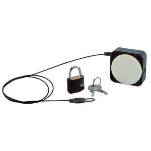 Handbag Security, 20 mm Padlock with MicroMini Retractor