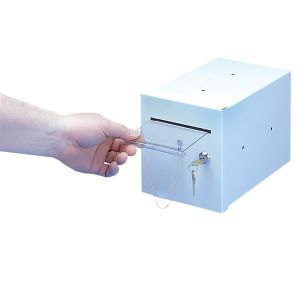 Cash Drop Box Single Lock, with Pusher Bar