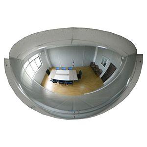 "18"" Half Mirror Dome Acrylic, 180 deg. Viewing area"