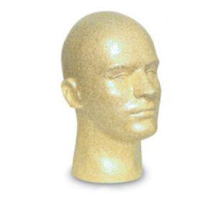 Male Suntan, Styrofoam Head Mannequin
