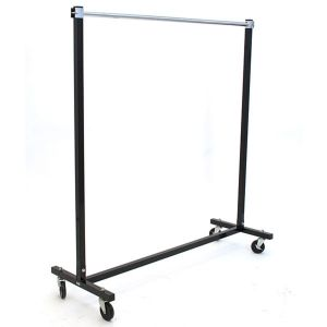 Rolling Garment Folding Rack, Black, with casters