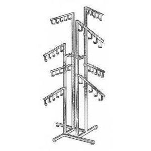 8 Slant Arm Rack - Square Uprights & Arms