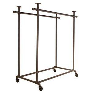 Double Ballet Bar (Frame Only) Garment Rack