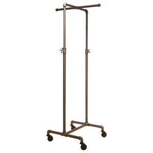 2-Way Cross Bar Clothing Rack, Adjustable, Grey