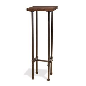 Tower Table, Dark Brown Wood Grained top