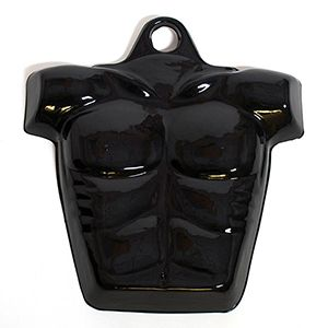 Molded Form Half Male Body, Chest, Black