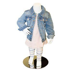 Child/Toddler Headless Fiberglass Mannequin w/Base
