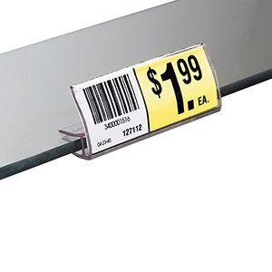 "Ticket Holder, for Glass Shelf, 2-7/8"" x 7/8"""