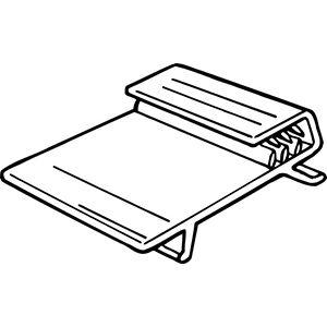 """Super Grip for Glass Shelf, 1-1/4"""" x 1"""""""