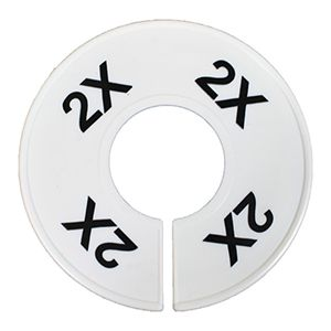 """""""2X"""" Round Size Dividers"""