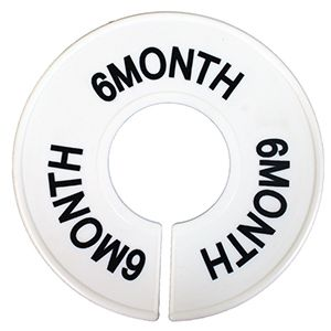 """""""6 MO"""" Round Size Dividers"""