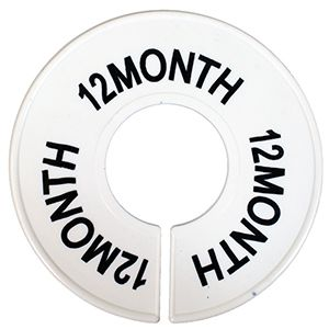 """""""12 MO"""" Round Size Dividers"""