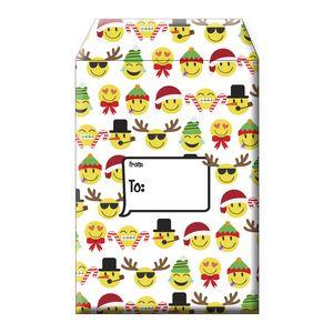 """Tyvek Mailers, Large Emoji Christmas, 11"""" x 15.5"""""""