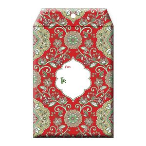 """Tyvek Mailers, Large Tapestry Red, 11"""" x 15.5"""""""