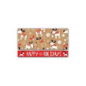 "Money Holder Cards, Reindeer Hop Collection, 8.5"" x 3.5"""