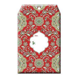 "Tyvek Mailers, Medium Tapestry  Red, 9"" x 12"""
