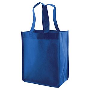 "Reusable Shopping Bags, 8"" x 5"" x 10"" x 5"", Royal Blue"