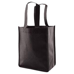 "Reusable Shopping Bags, 8"" x 5"" x 10"" x 5"", Black"