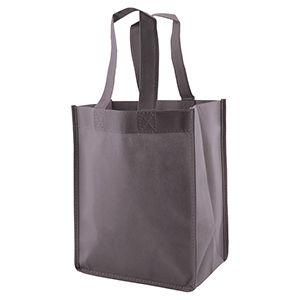 "Reusable Shopping Bags, 8"" x 5"" x 10"" x 5"", Charcoal"