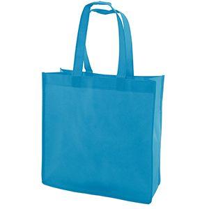"Reusable Shopping Bags, 13"" x 5"" x 13"" x 5"", Aqua Blue"