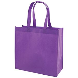 "Reusable Shopping Bags, 13"" x 5"" x 13"" x 5"", Purple"