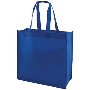 "Reusable Shopping Bags, 13"" x 5"" x 13"" x 5"", Royal Blue"