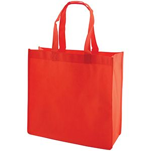 """Reusable Shopping Bags, 13"""" x 5"""" x 13"""" x 5"""", Red"""