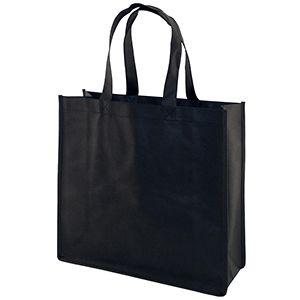 "Reusable Shopping Bags, 13"" x 5"" x 13"" x 5"", Black"