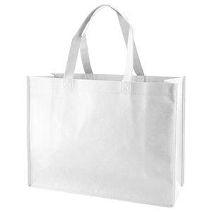 "Reusable Shopping Bags, 16"" x 6"" x 12"" x 6"", White"