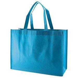 "Reusable Shopping Bags, 16"" x 6"" x 12"" x 6"", Aqua Blue"