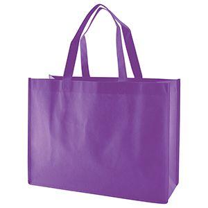 "Reusable Shopping Bags, 16"" x 6"" x 12"" x 6"", Purple"