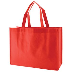 """Reusable Shopping Bags, 16"""" x 6"""" x 12"""" x 6"""", Red"""