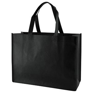 "Reusable Shopping Bags, 16"" x 6"" x 12"" x 6"", Black"