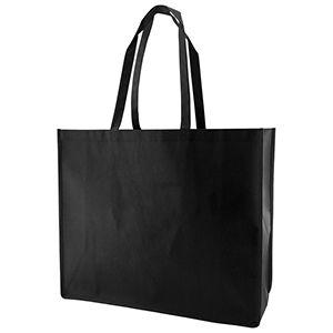 "Reusable Shopping Bags, 20"" x 6"" x 16"" x 6"", Black"