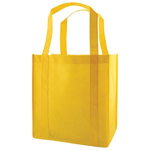 "Reusable Grocery Bags, 12"" x 8"" x 13"", Yellow"