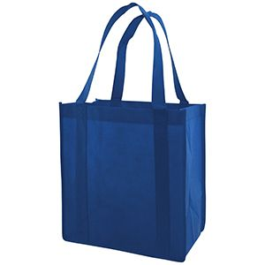 "Reusable Grocery Bags, 12"" x 8"" x 13"", Royal Blue"