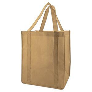 "Reusable Grocery Bags, 12"" x 8"" x 13"", Khaki"