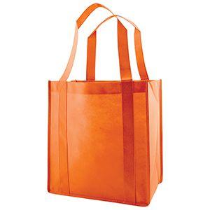 "Reusable Grocery Bags, 12"" x 8"" x 13"", Orange"