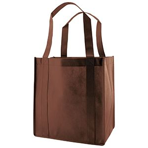 "Reusable Grocery Bags, 12"" x 8"" x 13"", Chocolate"