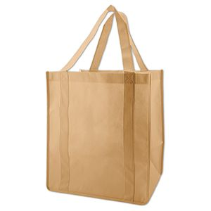 "Reusable Grocery Bags, 12"" x 8"" x 13"", Natural"