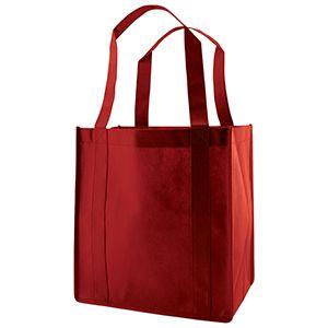 "Reusable Grocery Bags, 12"" x 8"" x 13"", Burgundy"