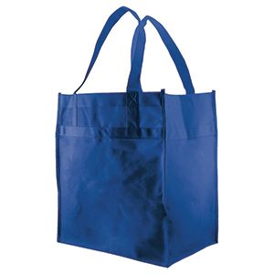 "Economy Reusable Grocery Bags, 12"" x 8"" x 13"", Royal Blue"