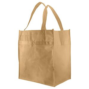 "Economy Reusable Grocery Bags, 12"" x 8"" x 13"", Natural"