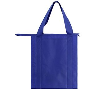 "Insulated Reusable Grocery Bags, 13"" x 10"" x 15"" x 10"", Royal Blue"