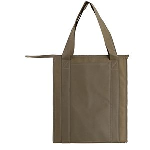 "Insulated Reusable Grocery Bags, 13"" x 10"" x 15"" x 10"", Khaki"