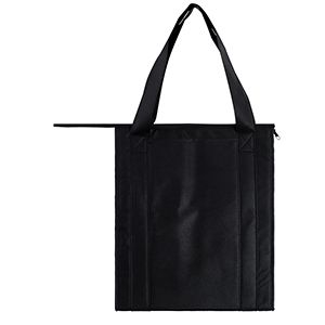 "Insulated Reusable Grocery Bags, 13"" x 10"" x 15"" x 10"", Black"