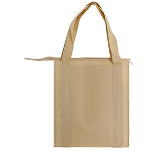 "Insulated Reusable Grocery Bags, 13"" x 10"" x 15"" x 10"", Natural"