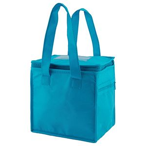 "Lunch Tote Bag, 8"" x 6"" x 8.5"" x 6"", Aqua Blue"