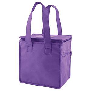 "Lunch Tote Bag, 8"" x 6"" x 8.5"" x 6"", Purple"